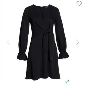 Sam Edelman Long-Sleeve Black Dress